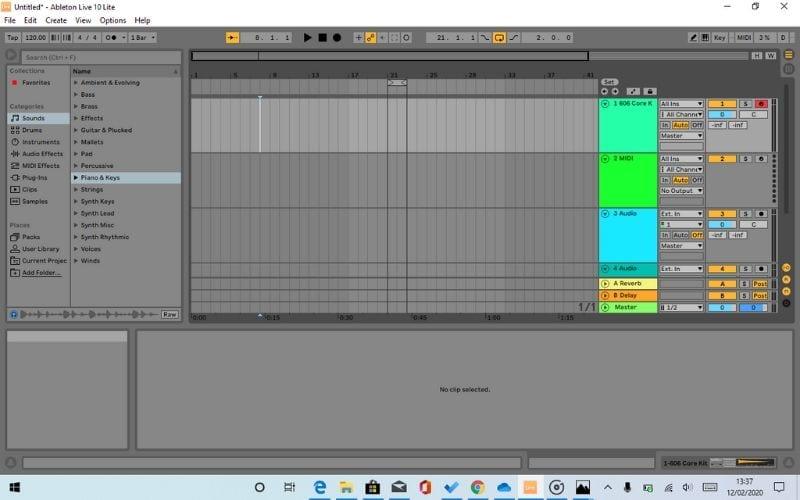 MIDI pistas Ableton