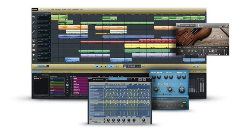 Magix Music Maker gratis - interface review