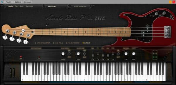 mejores plugins vst gratis para fl studio Ample Sound Ample Bass P LITE II