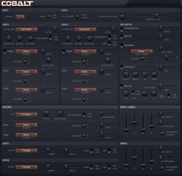 Descargar Gratis Cobalt by Leslie Sanford VST Plugin