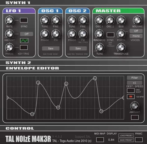 Descargar Gratis TAL-NoiseMaker by Togu Audio Line VST Plugin