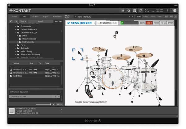 Descargar Gratis Sennheiser's DrumMic'a
