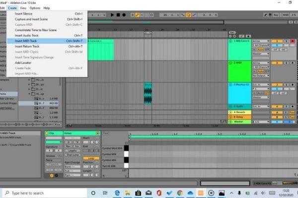 Midi track Ableton